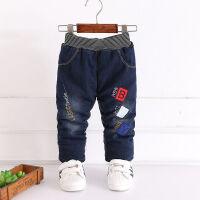0-5岁男童加绒宝宝冬季牛仔裤棉裤儿童婴幼童保暖百搭牛仔加厚