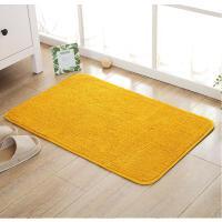 金黄纯色地垫门垫50*80cm踩脚垫浴室防滑垫机洗可定制入户门厅垫