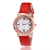 女士皮带手表时尚简约韩版手表女款高档石英镶钻潮流学生手表