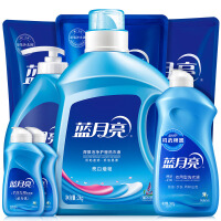 【�I券立�p50元】�{月亮 10斤洗衣液套�b:�C洗2kg+手洗1kg*1+袋�b500g*3+瓶�b500g