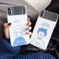 20190531235533282情侣卡通8plus苹果x手机壳XS Max/XR/iPhoneX/7p/6女ipho
