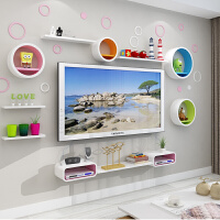 支持*】 机顶盒墙上置物架客厅卧室壁挂电视柜创意格子电视背景墙装饰架3yb