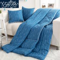 抱枕被子两用靠垫靠枕头被午休汽车用折叠午睡空调被加厚全棉