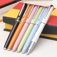 毕加索钢笔916纯黑特细笔财务笔男女中小学生用练字墨水笔