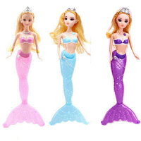 女孩生日礼物唱歌白雪美人鱼公主芭比洋娃娃玩具儿童节礼盒 30-50厘米