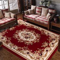 欧式地毯客厅茶几地毯手工剪花加密加厚美式水洗地毯可水洗