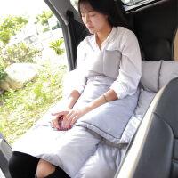 多功能汽车抱枕被子两用羽绒空调被午休薄被车用靠枕枕头车上靠垫 140x180cm(90%鸭绒)