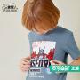 小虎宝儿童装男童短袖T恤儿童变形金刚纯棉短袖中大童夏季潮装
