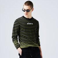 【满1000减750】美特斯邦威条纹毛衣男士新款潮流韩版针织毛衫秋季上新