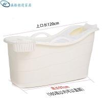加大加长泡澡桶浴桶儿童洗澡盆小孩沐缸婴儿游泳池加厚有盖硬塑料
