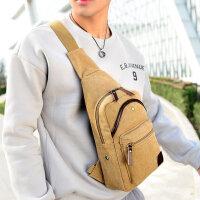 男士斜挎包背包 韩版胸包休闲帆布单肩包腰包时尚学生潮包 其布色