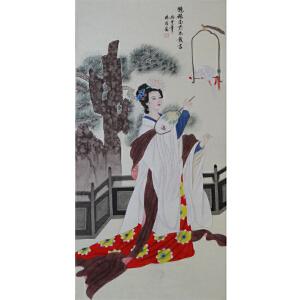 现代画家 杨丽  鹦鹉面前不敢言   /06