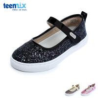 百丽天美意teenmix童鞋格力特女童时装鞋儿童皮鞋 时尚闪亮女生返校鞋休闲学生鞋 (5-10岁可选)