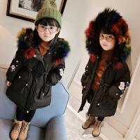 冬装新款女童棉衣韩版羽绒棉加厚中长款棉袄外套B3-T52