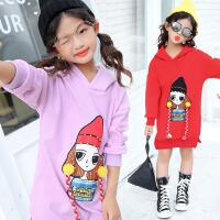 儿童打底衫2017冬季新款韩版童装女童卫衣中大童长袖加绒加厚打底衫童T恤  XLD女孩卫衣