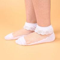 儿童袜子夏季薄款超薄男童女童冰丝袜短袜宝宝水晶花边公主婴儿袜
