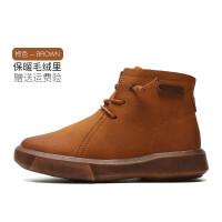 男童棉鞋2018秋冬季新款儿童鞋二棉靴子保暖加绒皮鞋女童冬鞋