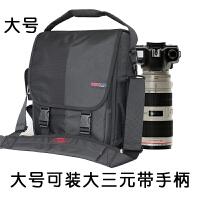 摄影包户外单肩包男女斜跨防水单反相机包750d简约佳能大号