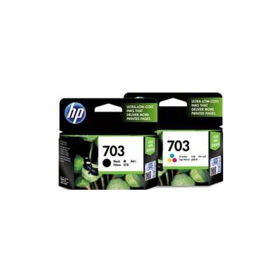 惠普原装正品 hp 703 喷墨打印机一体机黑色彩色墨盒 HP703黑色墨盒 HP703彩色墨盒  HP Deskjet D730/F735/K109A/K209A/K510A 喷墨打印机一体机墨盒 703BK黑色 703C彩色 CD887AA 黑色墨盒 CD888AA 彩色墨盒 HP703墨盒 满99包邮!原装正品!