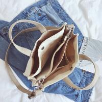 新款商务公文包日韩简约a4学生书包文件包大容量女包帆布包手提包