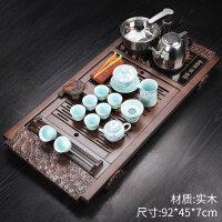 【支持�Y品卡】紫砂功夫茶具套�b家用陶瓷茶�夭璞��磁�t茶�_茶道��木茶�P jk8