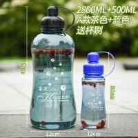 超大容量水杯2000ml户外便携塑料太空杯大号1000防爆水壶
