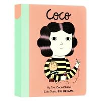 小女孩大梦想纸板书 可可香奈儿 英文原版 Coco Chanel My First Coco Chanel 小人物大梦想