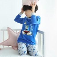 【一件5折】托马斯正版童装男童春装家居服睡衣卡通印花长袖T恤+长裤套装