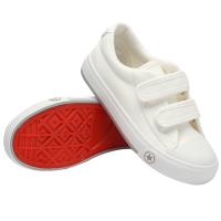 儿童帆布鞋男童小白鞋子女童宝宝休闲运动鞋中小童白色板鞋 白色