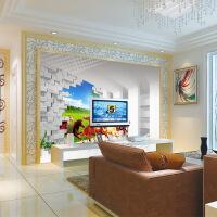 无缝墙纸壁画电视背景墙无纺布客厅宾馆壁纸墙布