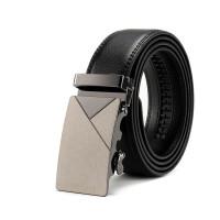 黑色皮带 自动扣男士真皮腰带男士中青年裤腰带 3.5宽