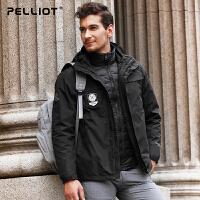 【保暖节-狂欢继续】法国伯希和户外羽绒冲锋衣 男女三合一防风保暖透气两件套冲锋衣