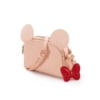 迪士尼米奇米妮女包可爱斜挎包迷你单肩包双拉链小包包SN6532