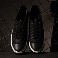【2件2.5折]唐狮夏季男士帆布鞋低帮鞋小黑鞋学生英伦鞋休闲韩版潮流运动板鞋
