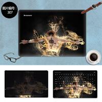 戴尔灵越游匣15PR-5745B贴纸笔记本电脑外壳膜15.6寸炫彩贴膜定制 SC-307 三面+键盘贴