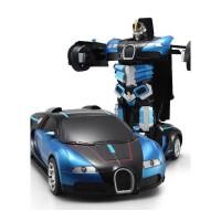 佳奇遥控电动变形机器人变形金刚4儿童玩具汽车手势感应抖音 声控版布加迪 蓝色 默认0