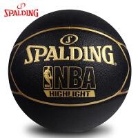 斯伯丁篮球 Highlight金色LOGO室内室外PU篮球74-634Y