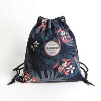 游泳装备束口袋双肩包运动健身度假泳衣收纳包沙滩包抽绳男女背包