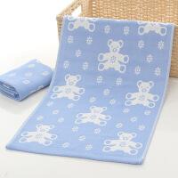 ???纯棉儿童毛巾可爱三层纱布巾宝宝巾婴儿毛巾枕巾