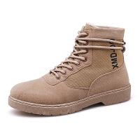 冬季高帮加绒棉鞋雪地靴韩版秋季男士工装短靴子英伦百搭马丁靴男