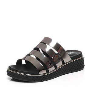 Belle/百丽夏季专柜同款人造革凉鞋BQK30BL7