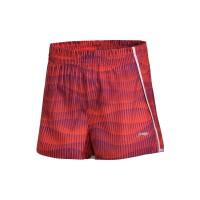 【双十二狂欢】李宁女子运动短裤跑步系列裤装梭织运动裤女款AKSM068