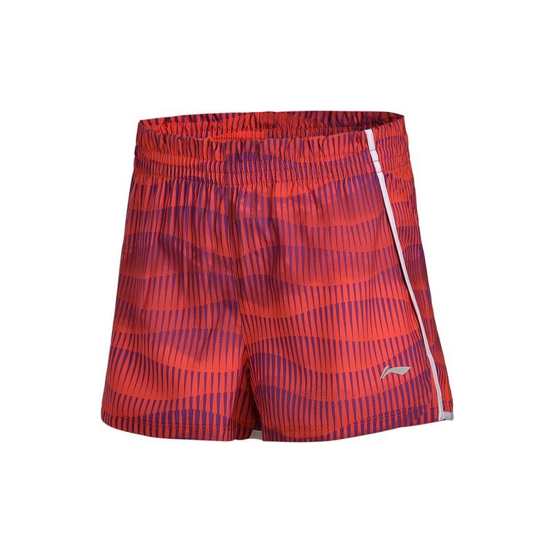 【双十二狂欢】李宁女子运动短裤跑步系列裤装梭织运动裤女款AKSM068 12.9-12.12 满109减5 满209减10