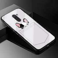 小米Pocophone F1手机玻璃壳小米F1全包保护套POCO F1硅胶软边女个性创意欧美风潮男款 小米Pocoph