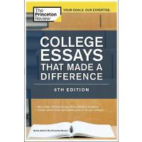 【现货】英文原版 美国大学入学申请文书写作 College Essays That Made a Difference, 6th Edition