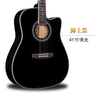 ?40寸41寸粉色民谣初学者入门吉他jita乐器练习琴 女生中琴