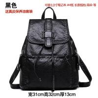 双肩包女学院风包包旅行包背包时尚休闲书包女包 黑色