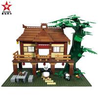 星钻积木功夫熊猫3男孩子拼装积木儿童组装益智拼插玩具6岁10
