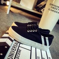 春季新款韩版帆布鞋女鞋平底小白鞋厚底学生布鞋1992休闲板鞋