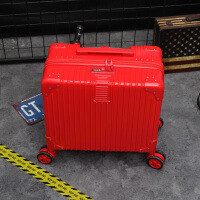 复古登机箱18寸行李箱女小型红色箱子16寸拉杆箱迷你旅行箱男韩版